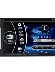 economico -BYNCG 6201 6.2 pollice 2 Din Windows CE 6.0 In-Dash DVD Player per Universali / Universale Supporto / DVD-R / RW / MP4 / Scheda TF