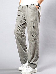 cheap -Men's Plus Size Loose Chinos Pants - Solid