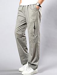 abordables -Hombre Tallas Grandes Algodón Corte Ancho / Chinos Pantalones - Un Color / Fin de semana