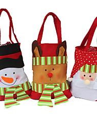 cheap -3PCS Creative Household Utility Gift Stereo Christmas Snowman Candy Bag Christmas Gift Bag Christmas Gift Bag Christmas Bag