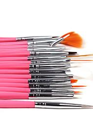 abordables -1set días del diseño del arte del clavo 15pcs pintura dibujo pincel pluma (3 de color elegir)