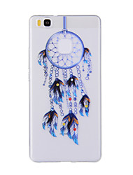 For Huawei Y635 4C 4X 5C 5X P8 P9 P8Lite P9Lite Honor8 Honor7 Honor6 Case Cover Blue Dreamcatcher Pattern TPU Material Phone Case