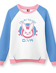 Ternos de Cosplay Inspirado por Vocaloid Hatsune Miku Anime Acessórios de Cosplay Camisa Preto Algodão Unissexo