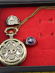 economico -Orologio Altri accessori Ispirato da One Piece Edward Newgate Anime Accessori Cosplay Orologio Anello Lega