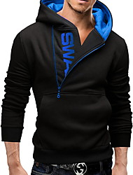 Men's Sports Casual/Daily Simple Active Street chic Hoodie Letter U Neck Micro-elastic Cotton Long Sleeve Spring Fall Winter