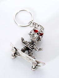 cheap -Keychain Jewelry Light gray Rubber Unique Design Euramerican Punk Unisex