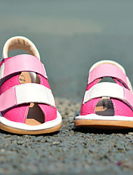 Kids' Boys' Baby Shoes Leather Cowhide Spring Summer Fall Comfort First Walkers Sandals Magic Tape For Casual Outdoor Fuchsia Blue