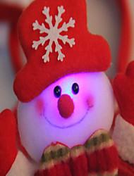 2PCS Christmas Christmas Headband Christmas Party Props Single Head Buckle Light Hair Headdress Variety(Style random)