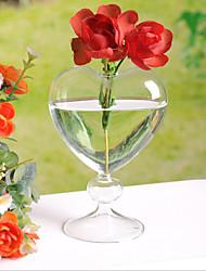 Недорогие -стеклянные столы для центра стола - персонализированные вазы часть / комплект свадебный прием