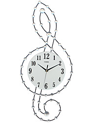 Modern/Contemporary Houses Wall Clock,Others Acrylic / Glass / Metal 30*75CM Indoor Clock