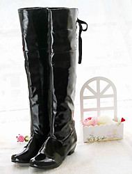 cheap -Women's Shoes Patent Leather Leatherette Winter Fall Fashion Boots Motorcycle Boots Bootie Combat Boots Comfort Novelty Cowboy / Western