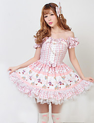 cheap -Princess Classic Lolita Dress Women's Dress Cosplay Short Sleeve Medium Length Halloween Costumes