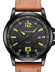 Hombre Reloj Deportivo Reloj Militar Reloj de Vestir Reloj de Moda Reloj de Pulsera Cuarzo Cuarzo Japonés Calendario Resistente al Agua