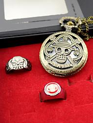 Montre / Plus d'accessoires Inspiré par One Piece Ace Anime Accessoires de Cosplay Montre / Anneau Doré Alliage