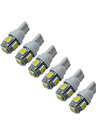 abordables -1W 60-90 lm T10 Lampe de Décoration 5 diodes électroluminescentes SMD 5050 Blanc Froid DC 12V