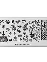 economico -nail art timbro immagine che timbra il piatto modello di serie di fresco