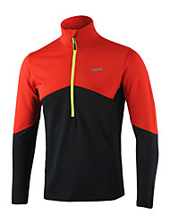 Arsuxeo Men's Running Jacket Long Sleeves Thermal / Warm Soft Reflective Strips Four-way Stretch Sweat-wicking Top for Exercise & Fitness