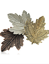 abordables -broches de aleación de moda retro de la mujer elegante pasador de diario / ocasional tres hojas de la joyería 1pc forma accesoria