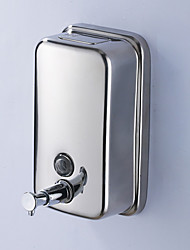 "Soap Dispenser Contemporary Stainless Steel 10.5cm(4.13"") Robe Hook Wall Mounted"
