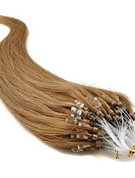 """abordables -20"""" brun doré (# 12) 100s boucle micro extensions de cheveux humains"""