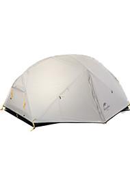 Недорогие -Naturehike 2 человека Световой тент Двойная Палатка Однокомнатная Туристические палатки Влагонепроницаемый Хорошая вентиляция