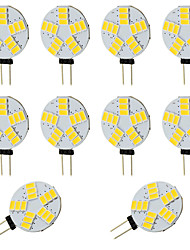 abordables -10pcs 2W 360lm G4 LED à Double Broches T 15 Perles LED SMD 5730 Blanc Chaud Blanc Froid 12-24V 12V