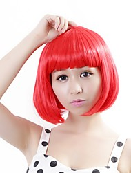"Neitsi 100% Kanekalon Fiber 14""(35cm) 160g/pc Women's Girl's Cosplay Short Synthetic BOB Hair Wig Red"