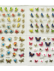 cheap -24Pcs In 1 Large Size Sheet Moon Butterfly Animal Pattern For Stamping 3D Nail Sticker Charms Bronzing Nail Art Decal