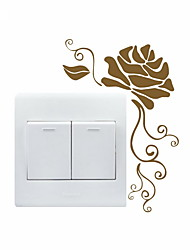 cheap -AYA™ DIY Wall Stickers Wall Decals, Flower Pattern Light Switch Stickers