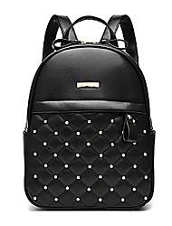 M.Plus® Women's Fashion Korean Plaid Rivet PU Leather Backpack