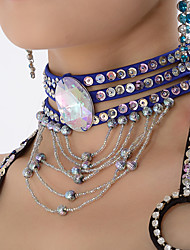 cheap -Belly Dance Neckwear Women's Performance Polyester / Sequined Beading / Sequin Animals / Christmas Decorations / Halloween Decorations Necklace / Princess / Historical Characters / Fairies / Gothic