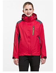 Per donna Giacche 3-in-1 Ompermeabile Tenere al caldo Antivento Fodera di vello Tuta da ginnastica tute per Sci Campeggio e hiking