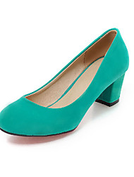 Women's Heels Spring Summer Fall Shoes & Matching Bags Leatherette Office & Career Dress Casual Chunky Heel  Black Blue Green Beige