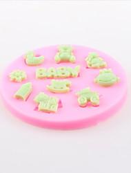 Bear Trojans Baby Fondant Cake Chocolate Silicone Molds,Decoration Tools Bakeware