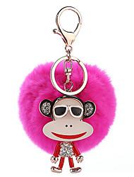 cheap -Key Chain Key Chain Sphere Metal Plush 1pcs Pieces Girls' Gift