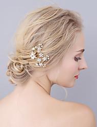 cheap -Imitation Pearl Rhinestone Alloy Hair Pin 1 Wedding Special Occasion Headpiece