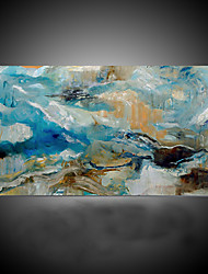 cheap -Hand-Painted Abstract Horizontal, Modern Mediterranean Canvas Oil Painting Home Decoration One Panel