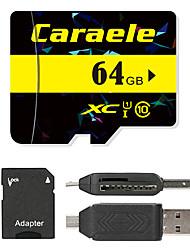 Caraele 64GB マイクロSDカードTFカード メモリカード UHS-I U1 クラス10