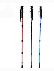 Aluminum Alloy 6061 110cm (43 Inches)Mountaineering Sticks Trekking Poles Multifunction Walking Sticks Alpenstock