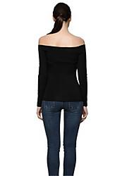 ebay aliexpress 2016 nouvelles femmes bustier sexy t-shirt à manches longues col de chemise