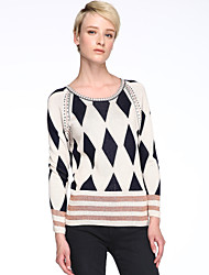 cheap -Women's Round Collar Fashion Elegant Knitwear Pullover