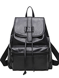 Women Bags All Seasons PU Backpack for Event/Party Shopping Casual Sports Formal Outdoor Office & Career Black