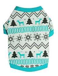 pejsky Trička Oblečení pro psy Zima Léto Sněhová vločka Roztomilé Módní Vánoce Modrá