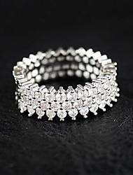 preiswerte -Damen Ring Strass Luxus Sterling Silber Strass Modeschmuck Hochzeit Party Normal