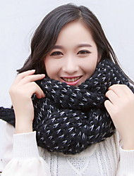 cheap -Women Wool Casual Thick Knitted Mohair Two - color Mixed Scarves Warm Shawl