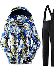 cheap -Men's Ski Jacket with Pants Thermal / Warm Comfortable Protective Ski / Snowboard Winter Sports Polyester