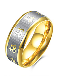 billige -Ring Smykker Mode Stål Guld Smykker For Afslappet 1 Stk.