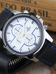 cheap -Men's Sport Watch / Keychain Watch / Wrist Watch Casual Watch / Cool Silicone Band Casual / Dress Watch Black / White / Blue