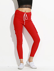 Women Solid Color LeggingCotton