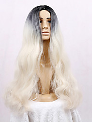 cheap -Women Synthetic Wigs Capless Long Very Long Loose Wave Light Blonde Natural Wigs Costume Wigs